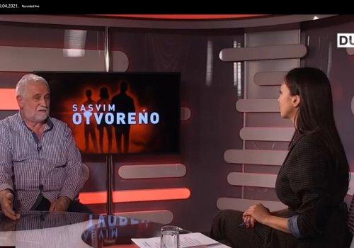 Kandidat za Gradonačelnika Pero Vićan gostovao je u emisiji Sasvim otvoreno Dubrovačke televizije